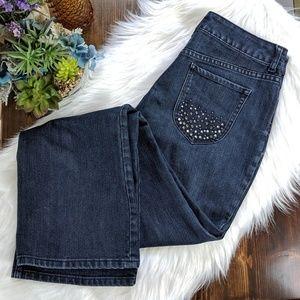 Chico's Platinum Denim Bootcut Charm Jeans 2